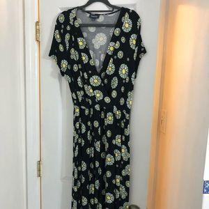 Mod cloth retro mid length flowery dress